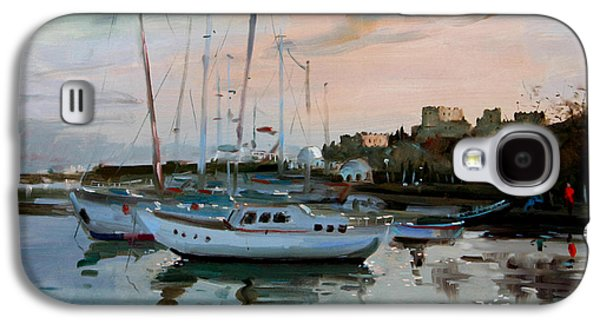 Mediterranean Landscape Galaxy S4 Cases - Rhodes Mandraki Harbour Galaxy S4 Case by Ylli Haruni