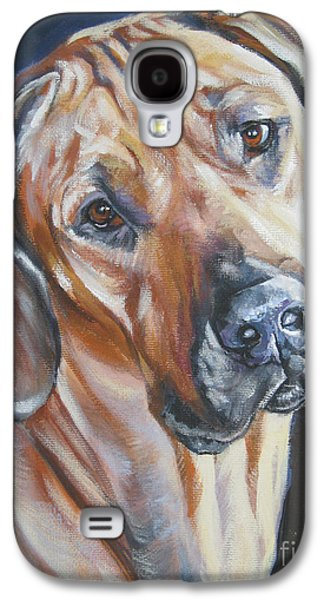 Recently Sold -  - Puppies Galaxy S4 Cases - Rhodesian Ridgeback Galaxy S4 Case by Lee Ann Shepard