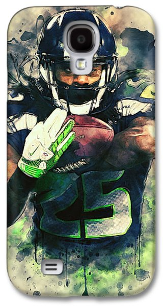 Wide Receiver Galaxy S4 Cases - Richard Sherman Galaxy S4 Case by Taylan Soyturk