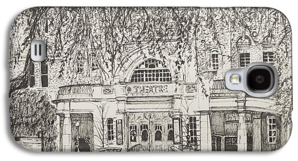 Pen And Ink Drawing Drawings Galaxy S4 Cases - Richmond Theatre London Galaxy S4 Case by Vincent Alexander Booth