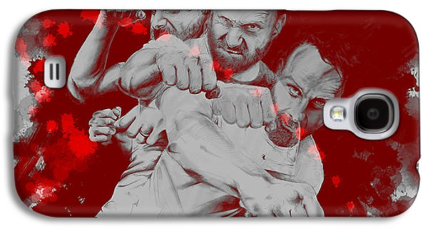 Rick Grimes Galaxy S4 Case by David Kraig
