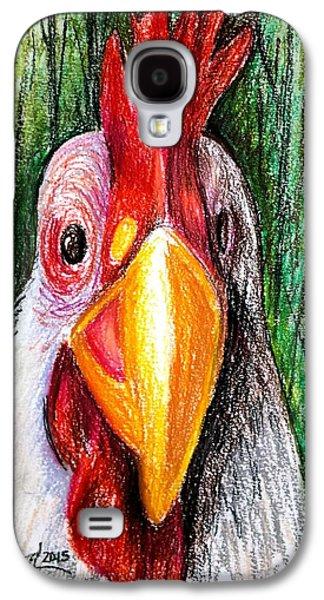 Drawing Galaxy S4 Cases - Ricki 2 Galaxy S4 Case by Deborah Willard