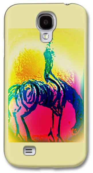 Psychiatric Paintings Galaxy S4 Cases - Rider C Galaxy S4 Case by Hilde Widerberg
