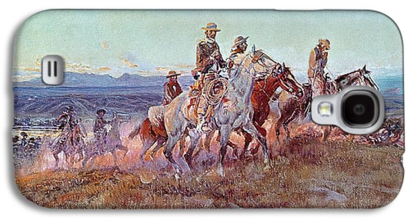 Riders Of The Open Range Galaxy S4 Case by Charles Marion Russell