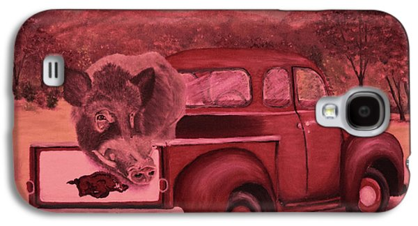 Ridin' With Razorbacks 3 Galaxy S4 Case by Belinda Nagy