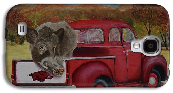 Ridin' With Razorbacks Galaxy S4 Case by Belinda Nagy