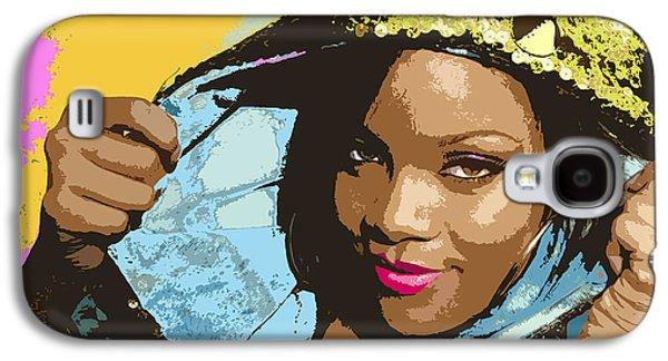 Rihanna Galaxy S4 Cases - Rihanna Galaxy S4 Case by John Keaton