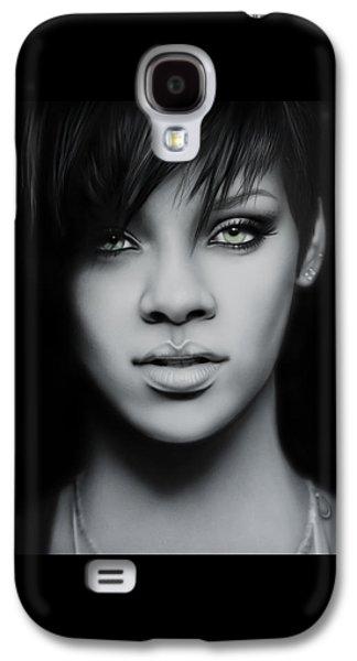 Rihanna Galaxy S4 Cases - Rihanna Portrait Galaxy S4 Case by Immer mehr