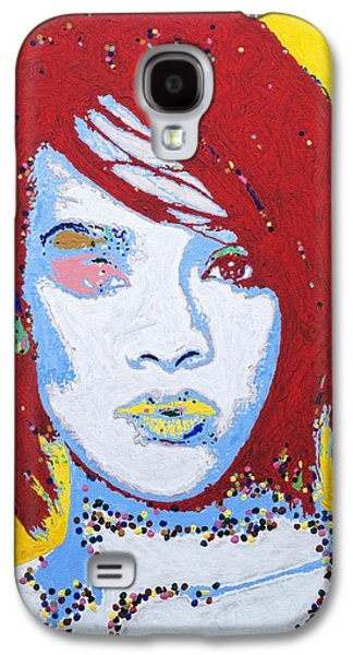 African-american Galaxy S4 Cases - Rihanna  Galaxy S4 Case by Stormm Bradshaw