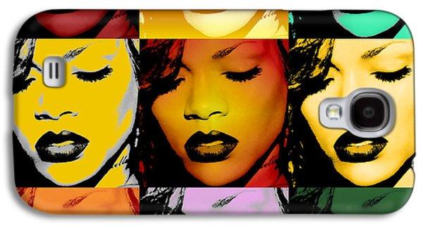 Rihanna Galaxy S4 Cases - Rihanna Warhol by GBS Galaxy S4 Case by Anibal Diaz