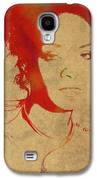 Rihanna Watercolor Portrait Galaxy S4 Case by Design Turnpike