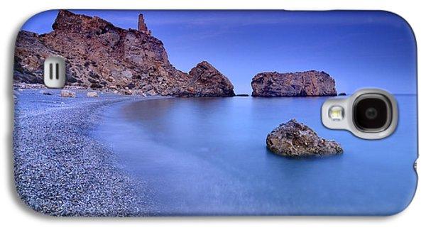 Beach Landscape Galaxy S4 Cases - Rijana beach at blue hour Galaxy S4 Case by Guido Montanes Castillo