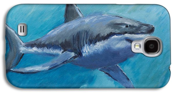 Animation Paintings Galaxy S4 Cases - Rin The Shark-Childrens Collection Galaxy S4 Case by Laurel McFarland