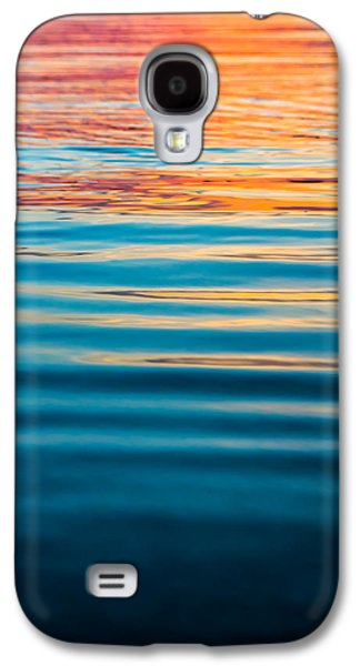 Sunset Abstract Galaxy S4 Cases - Ripples at Sunset Galaxy S4 Case by Shelby  Young
