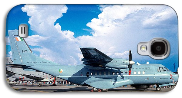Irish Air Corps, Casa Cn-235-100m, Twin-engine Tactical Airlifter Galaxy S4 Case by Wernher Krutein