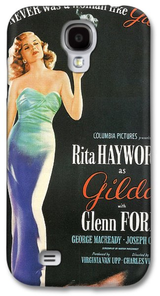 Big Screen Galaxy S4 Cases - Rita Hayworth as Gilda Galaxy S4 Case by Nomad Art And  Design