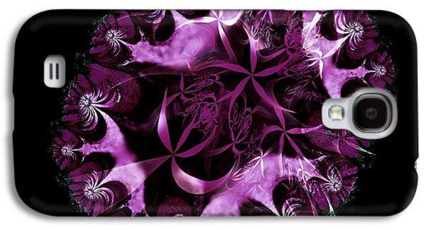 Abstract Digital Mixed Media Galaxy S4 Cases - Ritas Clematis Galaxy S4 Case by Nancy Pauling