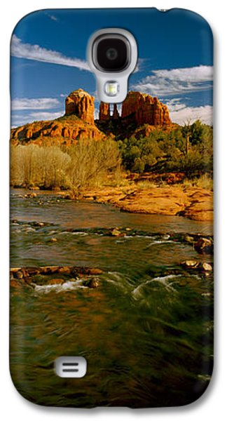 River Flowing Through Rocks, Red Rock Galaxy S4 Case by Panoramic Images