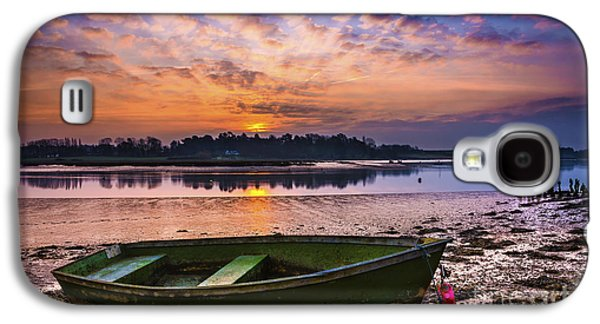 Landscapes Photographs Galaxy S4 Cases - River Sunrise Galaxy S4 Case by Svetlana Sewell