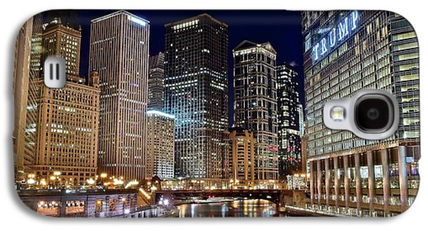 River View Of The Windy City Galaxy S4 Case by Frozen in Time Fine Art Photography
