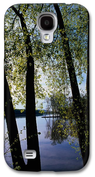 Wildlife Refuge. Galaxy S4 Cases - Riverview Through Budding Trees Galaxy S4 Case by Panoramic Images
