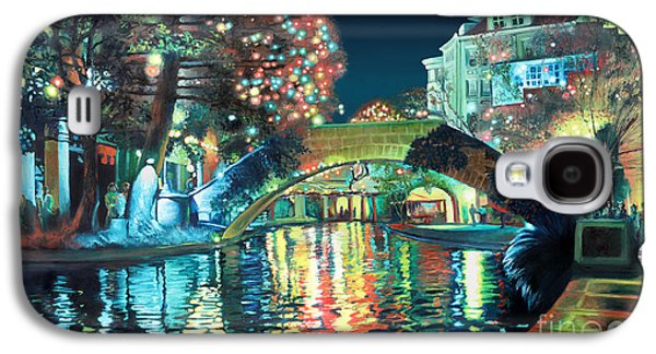 Holiday Paintings Galaxy S4 Cases - Riverwalk Galaxy S4 Case by Baron Dixon