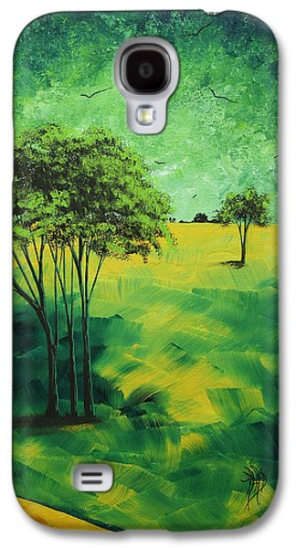 Gold Lime Green Galaxy S4 Cases - Road to Nowhere 1 by MADART Galaxy S4 Case by Megan Duncanson