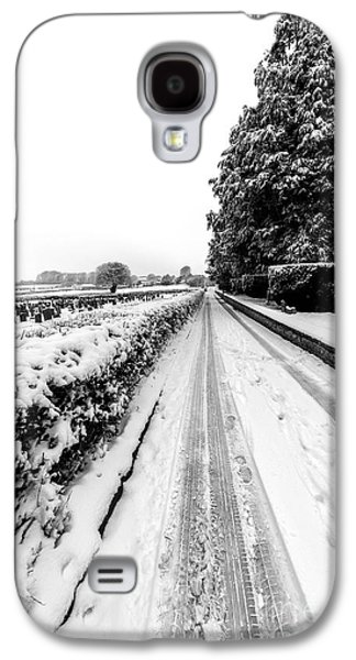 Snowy Digital Art Galaxy S4 Cases - Road To Winter Galaxy S4 Case by Adrian Evans