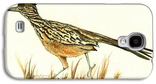 Roadrunner Bird Galaxy S4 Case by Juan Bosco
