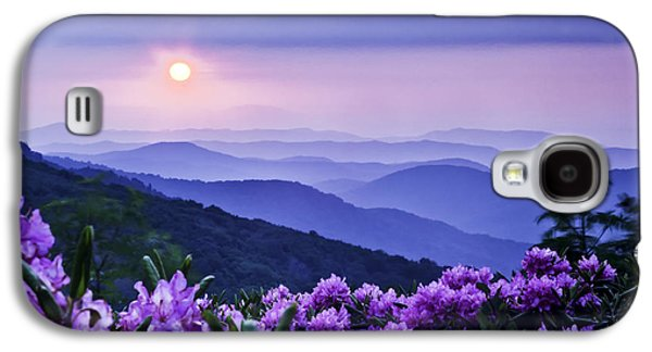 Rhododendron Galaxy S4 Cases - Roan Mountain Sunset Galaxy S4 Case by Rob Travis