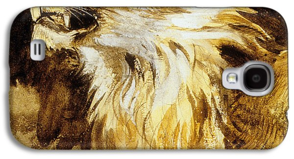 Loose Style Galaxy S4 Cases - Roaring Lion Galaxy S4 Case by Ferdinand Victor Eugene Delacroix