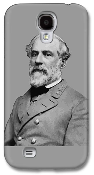 Army Digital Art Galaxy S4 Cases - Robert E Lee Confederate Hero Galaxy S4 Case by War Is Hell Store