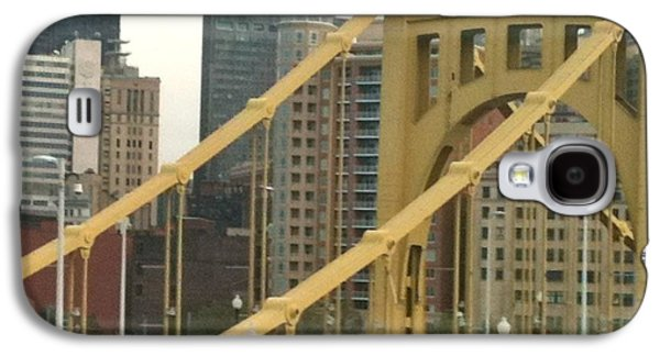Roberto Clemente Bridge Galaxy S4 Case by Deb Sagan