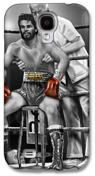 Roberto Red Gloves Of Gray  Galaxy S4 Case by Reggie Duffie