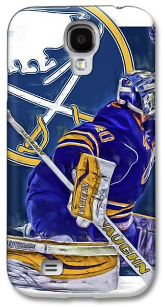 Robin Lehner Buffalo Sabres Oil Art Galaxy S4 Case by Joe Hamilton