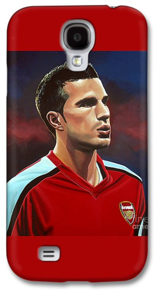 Robin Van Persie Galaxy S4 Case by Paul Meijering