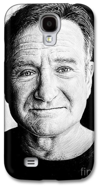 Chin Up Galaxy S4 Cases - Robin Williams Galaxy S4 Case by Andrew Read