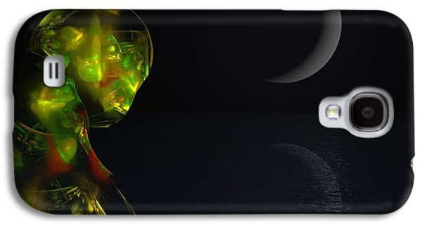 Abstract Digital Galaxy S4 Cases - Robot Moonlight Serenade Galaxy S4 Case by David Lane