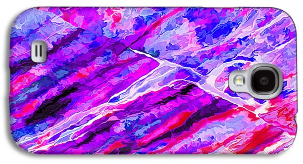 Photo Manipulation Galaxy S4 Cases - Rock Art 16 in Purple Blue n Red Galaxy S4 Case by Bill Caldwell -        ABeautifulSky Photography