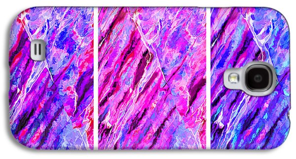 Photo Manipulation Galaxy S4 Cases - Rock Art 16 Triptych Galaxy S4 Case by Bill Caldwell -        ABeautifulSky Photography
