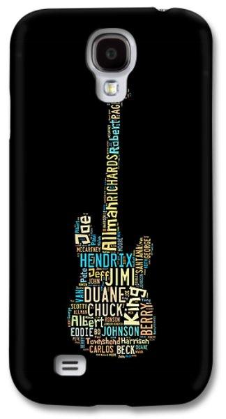 Keith Richards Galaxy S4 Cases - Rock Guitar Legends Galaxy S4 Case by Bill Cannon