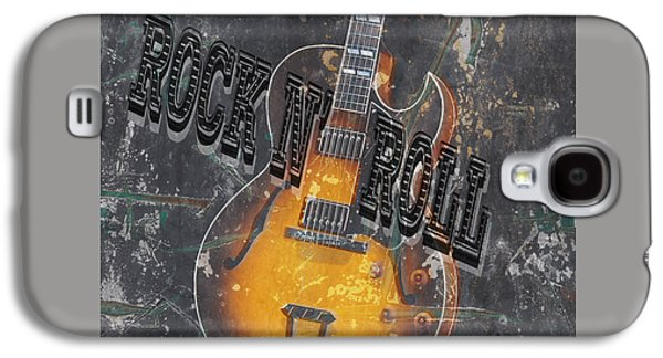 Rocks Drawings Galaxy S4 Cases - Rock n Roll 2 Galaxy S4 Case by Edward Fielding