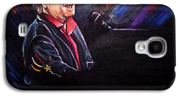 Elton John Paintings Galaxy S4 Cases - Rocket Man Galaxy S4 Case by Corina Bakke