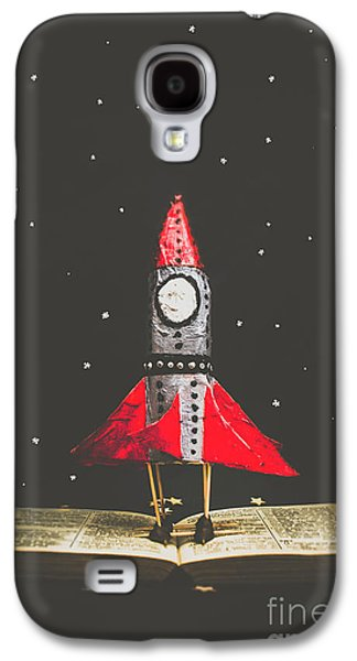 Rockets And Cartoon Puzzle Star Dust Galaxy S4 Case by Jorgo Photography - Wall Art Gallery