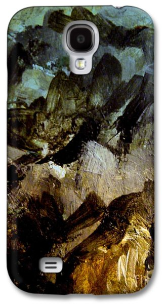 Blue Abstracts Galaxy S4 Cases - Rocks Galaxy S4 Case by Nancy Kane Chapman