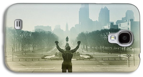 Stallone Digital Galaxy S4 Cases - Rocky at the Top of the Steps Galaxy S4 Case by Bill Cannon