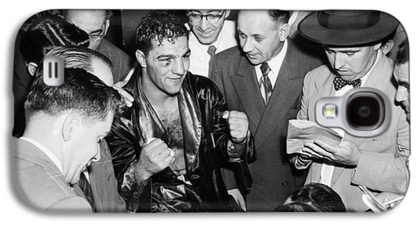 Boxer Galaxy S4 Cases - Rocky Marciano (1924-1969) Galaxy S4 Case by Granger