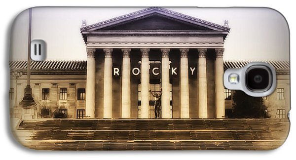 Boxer Digital Galaxy S4 Cases - Rocky on the Art Museum Steps Galaxy S4 Case by Bill Cannon