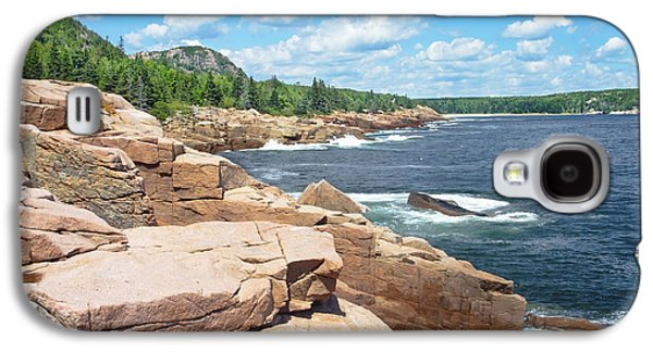 Maine Photographs Galaxy S4 Cases - Rocky Summer Seascape Acadia National Park Photograph Galaxy S4 Case by Keith Webber Jr