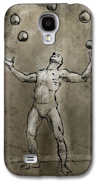 Juggling Drawings Galaxy S4 Cases - Rodrigo Galaxy S4 Case by H James Hoff